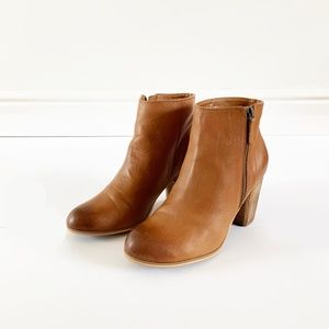 BP. Trolley Brown Leather Booties